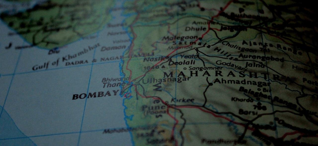 Bombaj na mapie