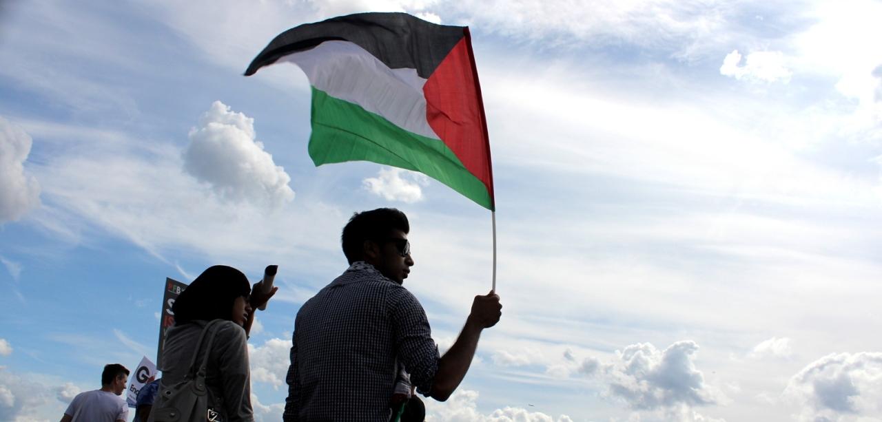 Londyn, 9 sierpnia 2014, demonstracja solidarności z Palestyną