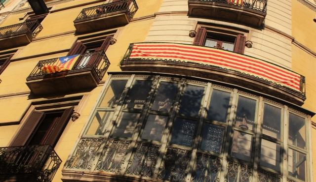 flaga katalonii barcelona
