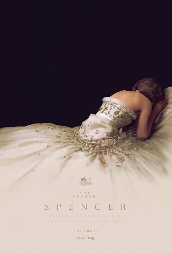 Spencer, reżyseria Pablo Larrain, w roli głównej Kristen Stewart, 2021